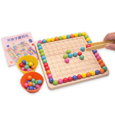 Fun Rainbow Beads Toy Happy Diminishing Early Childhood Education Parent-child Interaction Concentration Bead Training