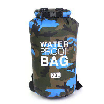 PVC Camouflage Waterproof Backpack Portable Outdoor Sport Rafting Bag River Tracing Swiming for Water Sports
