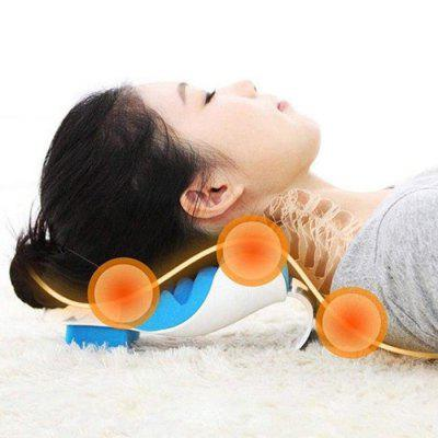 Creative Massage Pillow Headrest Portable Car Head and Neck Support Multi-function Cervical