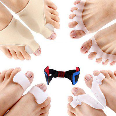 Toe Separator Kit Hallux Valgus Corrector Protective Set Splitter Silicone Strap Cover