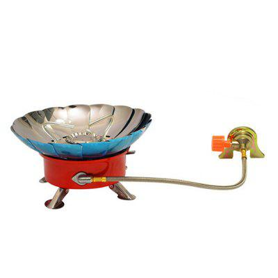 Outdoor Lotus Stove with Tube Windproof Burner Camping Cooking Gas