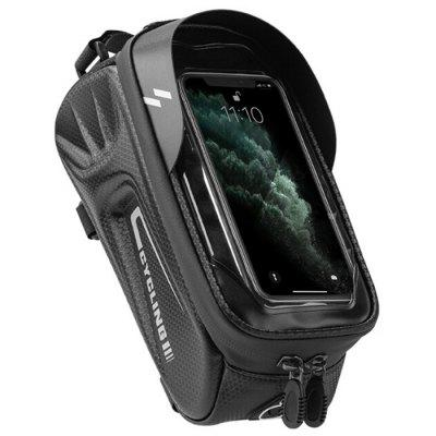 EVA Hard Shell Bicycle Bag Front Beam Mountain Bike Riding Equipment Mobile Phone Touch Screen Waterproof Pipe Package