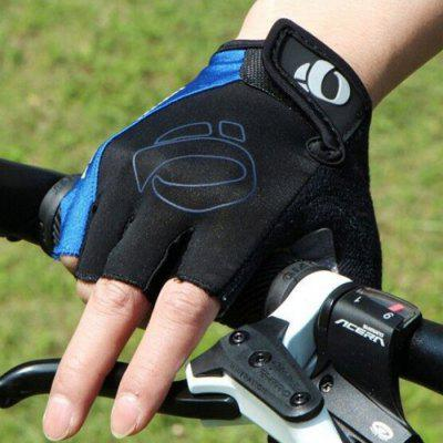 Bicycle Half-finger Cycling Glove One-word Rice Gloves Half Finger Mountain Bike Short
