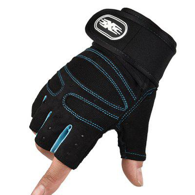 Half Finger Fitness Gloves Men and Women Anti-skid Breathable Summer Weightlifting Hand Dumbbell Equipment Training Long Wrist Riding