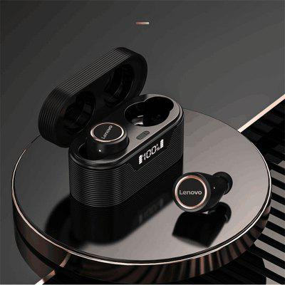 Фото - Lenovo LP12 TWS Wireless Bluetooth 5.0 Headphone HiFi DSP Noise Reduction Low Latency Earphone IPX5 Waterproof Smart Touch LED Display In-Ear Sports Earbuds with Microphone lenovo x9 tws wireless earbuds headphones bluetooth hifi sound quality earphones headset