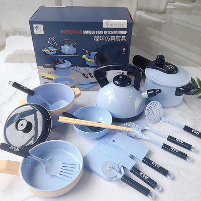 Children Pretend Play Kitchen Toy Girl Simulation Cooking Tableware Set Kids Gifts