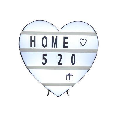 LED Card Letters Light Box Heart Type Puzzle DIY Home Decoration Marriage Plan Props