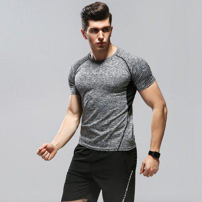 72011 Men Active Set Gym Sports Tights Quick-drying Clothes Night Running Training Summer Clothing