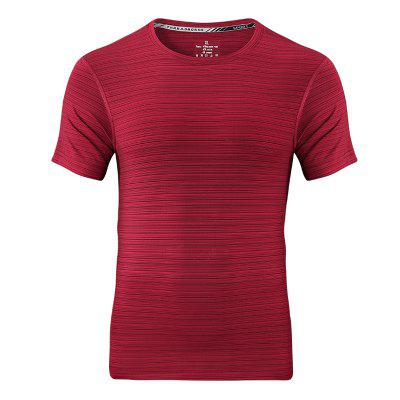 XK9898 Men Sports Short Sleeves T-shirt Quick-drying Breathable Ice-free Silk Round Neck Active Tops