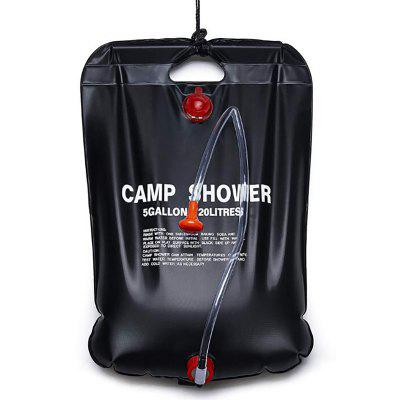 Solar Hot Water Bag Hiking Camping Supplies Storage Pack Outdoor Shower Bath