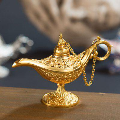 Aladdin Magic Lamp Metal Craft Wishing Aromatherapy Oven Home Decoration Creative Ornament