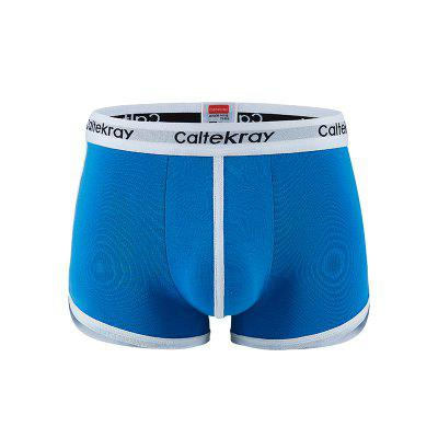 1999 Men Solid Color Boxers Underwear with Split Legs