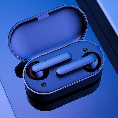 tws k2 mini earphone wireless earbuds music stereo bluetooth headset microphone with 450mah power bank for xiaomi mi6 kopfhorer T10 TWS Bluetooth 5.0 Earbuds Headphone Wireless Smartphone Earplugs 9D Bass Stereo Headset Earphone with Charging Box Microphone