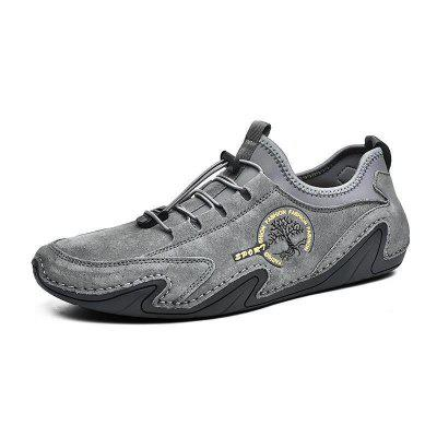 Men Octopus Large Size Soft Sole Casual Footwear Business Breathable Retro Male Shoes