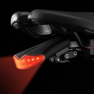 2-in-1 8 LEDs Wireless Remote Control Bike Taillight 130dB Induction Alarm Tail Light 3 Modes Adjustable USB Rechargeable
