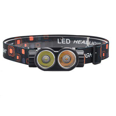 Upgrade Magnetic Double Light Source Long-range Headlight USB Charging head-mounted Work Headlamp