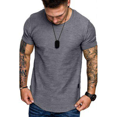 Mens T-shirt European and American Large Size Fashion Casual Tops