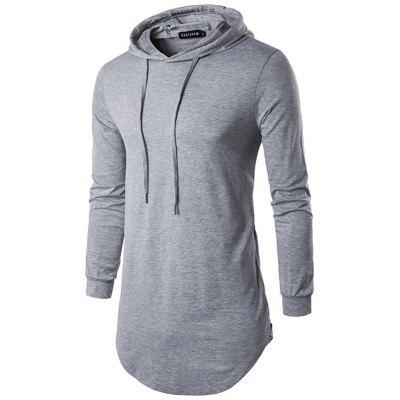 SYLYQ 127 High-end Street Style Solid Color Men Hooded T-shirt Sweatshirt