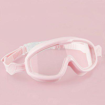 Children Large Frame Swim Goggles Waterproof and Anti-fog HD Swimming Eyewear for Boys Girls