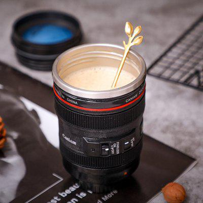 SLR Camera Lens Water Cup Personalized Stainless Steel Leak-proof Coffee