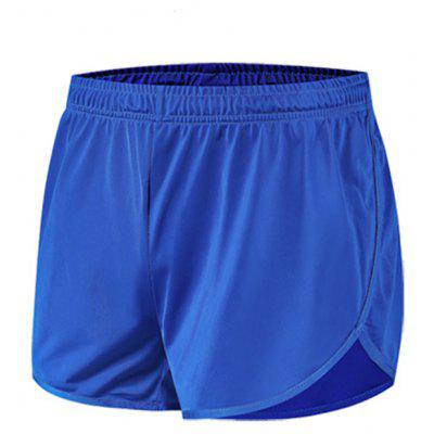 A011838 Summer Men Running Fitness Shorts Solid Color Three-point Pants Active Bottoms