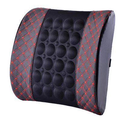 Car Seat Lumbar Support Pillow Home Dual-use Vibration Massage Backrest Cushion Pad