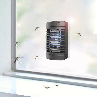4 LED Solar Mosquito Killer Lamp Electric Shock Insect Zapper Fly Trap Light Bug Physical Attractant