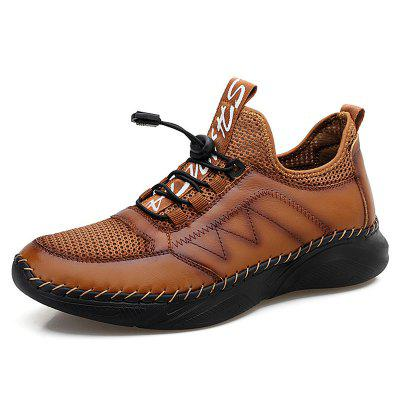 Men Comfortable Leather Shoes Cowhide Outdoor Footwear Lazy Super Light Large Size Casual