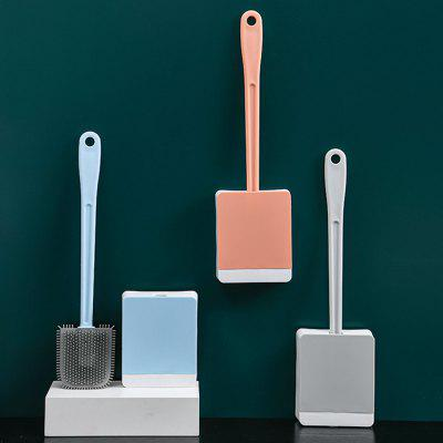 TPR Cleaning Toilet Brush Wall-mounted Long-handle Household Bathroom Soft Hair