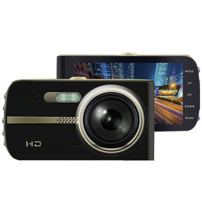 4-inch IPS Night Vision Driving Recorder HD 1080P Dual Lens with Reversing Image Zinc Alloy Car DVR