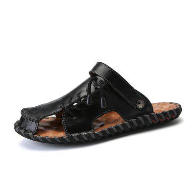 Summer Men Sandals Outdoor Comfortable Handmade Two-purpose Casual Tourist Beach Shoes