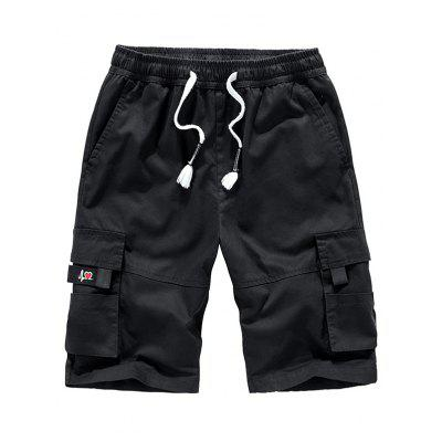 Man Summer Multi-pocket Tooling Shorts Cotton Five-point Loose Pants Large Size Casual
