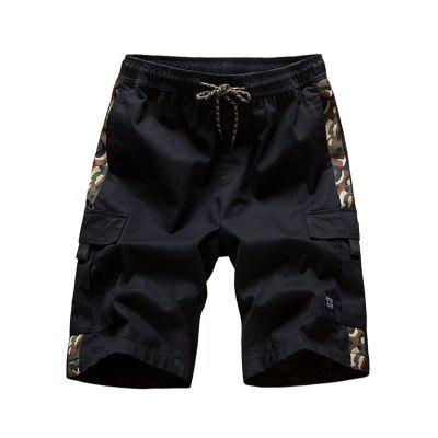 Summer Men Sports and Leisure Beach Tooling Shorts Cotton Loose Five Points Casual Pants Large Size