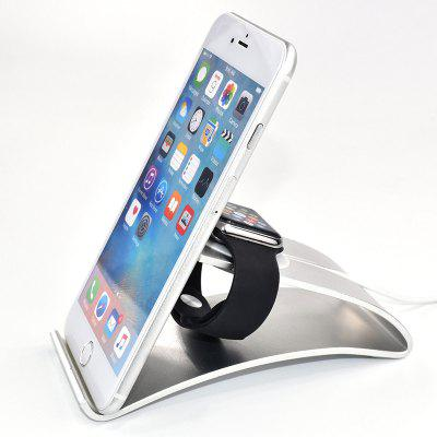 Smart Watch Mobile Phone Two-in-one Charging Bracket Lazy Aluminum Alloy Phone Holder Metal Base