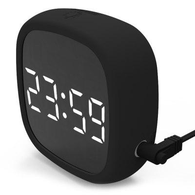 LED Digital Travel Snooze Alarm Clock Dimming Touch Easy Storage Magnet Electronic Large Screen Silicone Voice Control