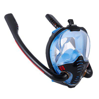 Adult Men Women Swimming Mask Double Breathing Tube Silicone Full Dry Snorkeling Masks Scuba Diving Goggles Equipment