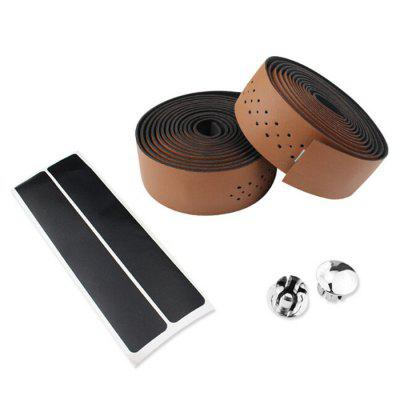 Bicycle Road Race PU Leather Punching Breathable Handle Belt Cycling Handlebar Tape