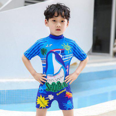 Children One-Piece Swimsuit Surfing Clothing Boy Swimwear Baby Infant Diving Swimming Training Sunscreen