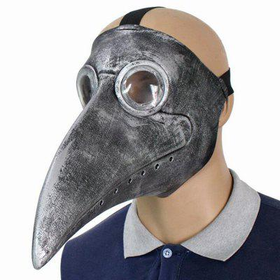 Plague Doctor Masquerade PU Mask Cosplay Steampunk Long Nose Halloween Costume