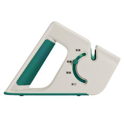 Mini Portable Knife Sharpener Home Kitchen Grinding Multi-function Four-in-One Quick