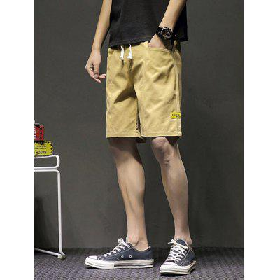 Summer Men Elastic Five-point Shorts Washed Pants Tether Sports Youth Clothing