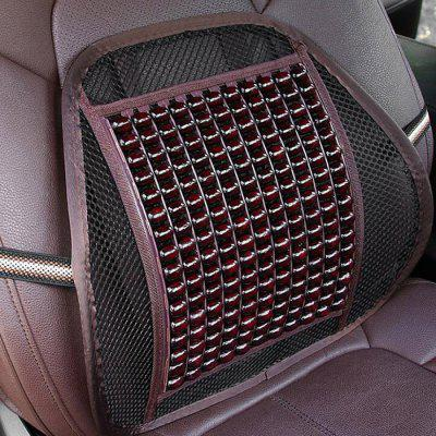 R-7276 Breathable Wooden Bead Car Waist Pillow Automobiles Seat Support Cover Summer Interior