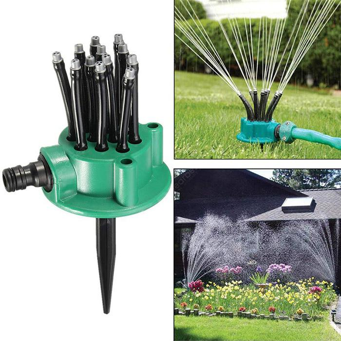 Household 360-Degree Garden Automatic Multi-head Sprinkler Flowers Watering Sprayer Garden Irrigation Tool