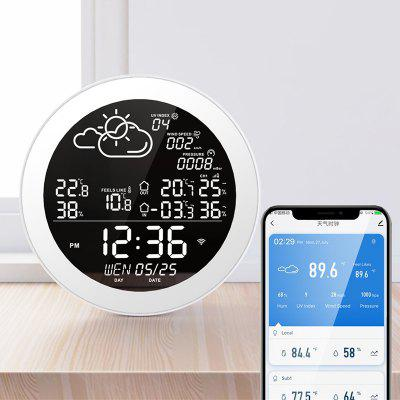 Home Smart Tuya Clock Thermometer Hygrometer