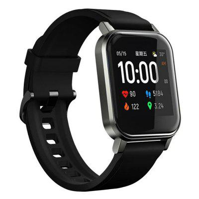 Haylou LS02 Mini Solar Smart Watch 2 IP68 Waterproof 12 Sports Mode Bluetooth 5.0 Heart Rate Monitor Smartwatch with Call Reminder Function English Version runfengte new update from w56 smart watch full touch screen bluetooth call ip68 waterproof sports clock body temperature men women smartwatch