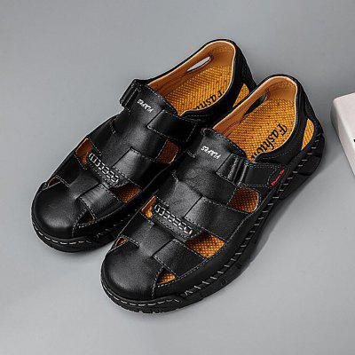 Men Outdoor Breathable Sandals Summer Velcro Sewing Trend Large Size Shoes