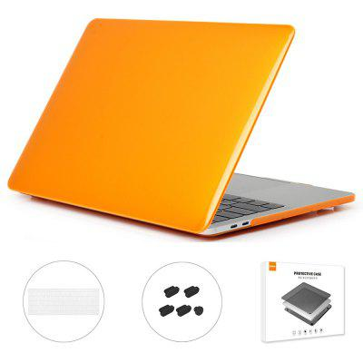 ENKAY Hat-Prince 3-in-1 Laptop Notebook Crystal Protective Case + Ultra-thin TPU Keyboard Film Anti-dust Plug with Touch Bar for MacBook Pro 15.4 inch A1707/A1990 US Version