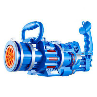 Фото - 2-in-1 Electric Automatic Five-hole Bubble Machine with Bubble Toy Gatling Bubble Gun Kid Toy Children Outdoor Sports Gift (without Bubble Water) wooden children simulation pretend play small doctor toy suit kids gift