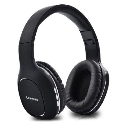Lenovo HD300 Wireless Bluetooth 5.0 Noise-canceling Headset Foldable Over Ear Headphone Sports Music Earphone 3.5mm Aux in TF Card MP3 Player with Microphone