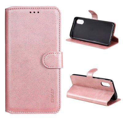 ENKAY Hat-Prince Calf Leather Texture PU+TPU with Card Slot Bracket Phone Protection Case for Samsung Galaxy M62/F62/Samsung Galaxy A32 4G/Samsung Galaxy A02/M02 protective top flip open pu leather case w card slot for samsung galaxy s5 white